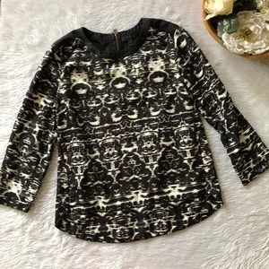 J.Crew Black Patterned Blouse
